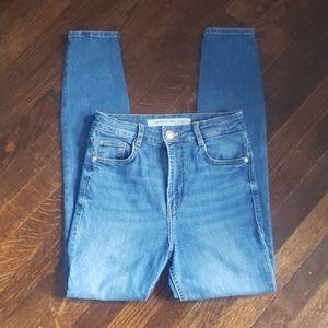 Zara Trafaluc Denim Skinny High Rise Jeans